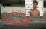 Suspeito de jurar delegado de morte com pichação em muro é preso no ES