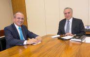 Temer e Hartung se reúnem para tratar de pautas importantes do ES