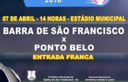 Barra de São Francisco enfrenta Ponto Belo no dia 07/04 pelo Campeonato Rural de Futebol Amador