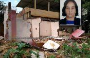 Senhora morre após parede de casa desabar sobre ela, na Vila Landinha, em Barra de São Francisco