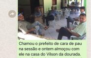 Vereador Nivaldo Toledo almoça com prefeito de Ecoporanga após chamá-lo de