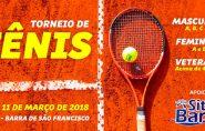 Começa nesta terça-feira o Torneio de Tênis da AABB de Barra de São Francisco