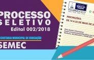 Prefeitura abre Processo Seletivo para professores; Confira o Edital