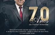 Culto de ação de graça pelos 70 anos do Pastor Artenide Gomes de Oliveira