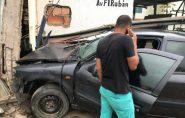 Carro bate em supermercado e 4 pessoas ficam feridas em Ecoporanga