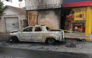 Bituca de cigarro causa explosão de carro em Colatina