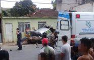 Caminhão sem freio arrasta carro de casal no Espírito Santo