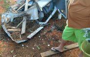 Acidente deixa caminhão completamente destruído no Norte do ES