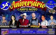 34º aniversário do Centro Comunitário Campo Novo terá três dias de festa; confira as atrações