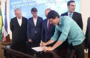 Assinado convênio para asfaltar a Av. Carlos Valli, em Barra de São Francisco