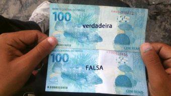 Polícia faz alerta para notas falsas circulando no comércio da região