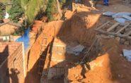 Muro de arrimo que quase matou irmãos em Barra de São Francisco é reconstruído