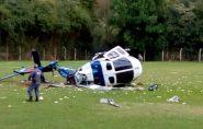 Em vídeo, Paulo Hartung comenta acidente com helicóptero em Domingos Martins