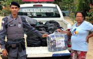 Polícia Militar faz doações de agasalhos em Barra de São Francisco