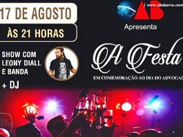 OAB de Barra de São Francisco vai comemorar Dia do Advogado com grande festa