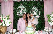 Juliana e Valtinho comemoram o primeiro aninho da pequena Cecília Valadão