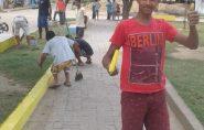Moradores se unem para revitalizar praça da Vila Luciene; veja fotos