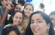 Professora inova aula em Barra de São Francisco usando canos e conexões PVC