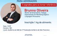 Especialista em Marketing Digital fará palestra para advogados em Barra de São Francisco