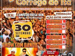 1ª Festa do Córrego do Itá terá sorteio de prêmios e show com Pegada Boa