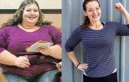 Sem cirurgia, americana emagrece 140 kg após desafio de amiga