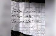 Motorista deixa bilhete após destruir moto e post viraliza: 'Me liga'