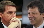 Haddad dispara no Nordeste e Bolsonaro tem 38% no Sul; confira os gráficos