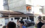 Apartamento pega fogo com mulher e dois filhos dentro, em Colatina