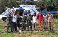 Bombeiros resgatam homens após 16 horas perdidos em mata no Sul do Espírito Santo