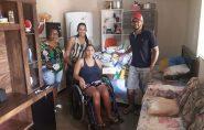 Voluntários se unem para ajudar família que sofreu acidente em Barra de São Francisco