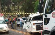 Alunos da Apae morrem em acidente com Kombi no Sul do Espírito Santo