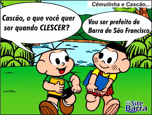 charge - cascao prefeito de bsf l