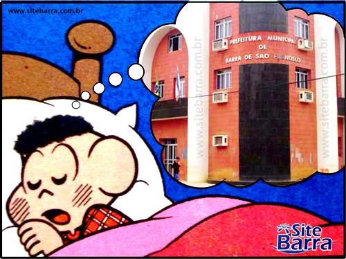sitebarra - cascao sonhando com prefeitura de barra de sao francisco