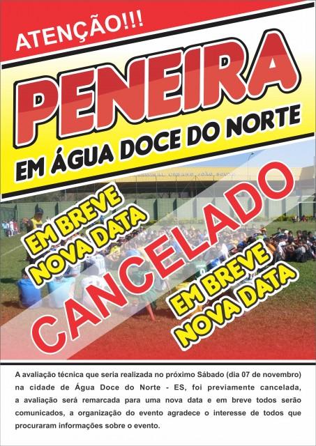 CARTAZ DA PENEIRA (LUIZ PAULO) cancelamento