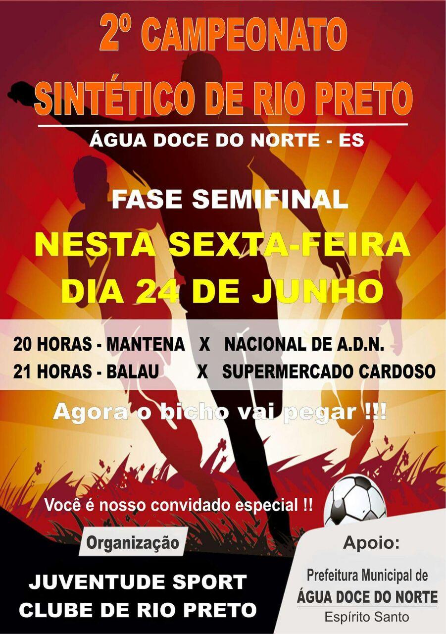 Campeonato Sintético do Rio Preto chega na fase Semi-Final 33ef7845cdd53