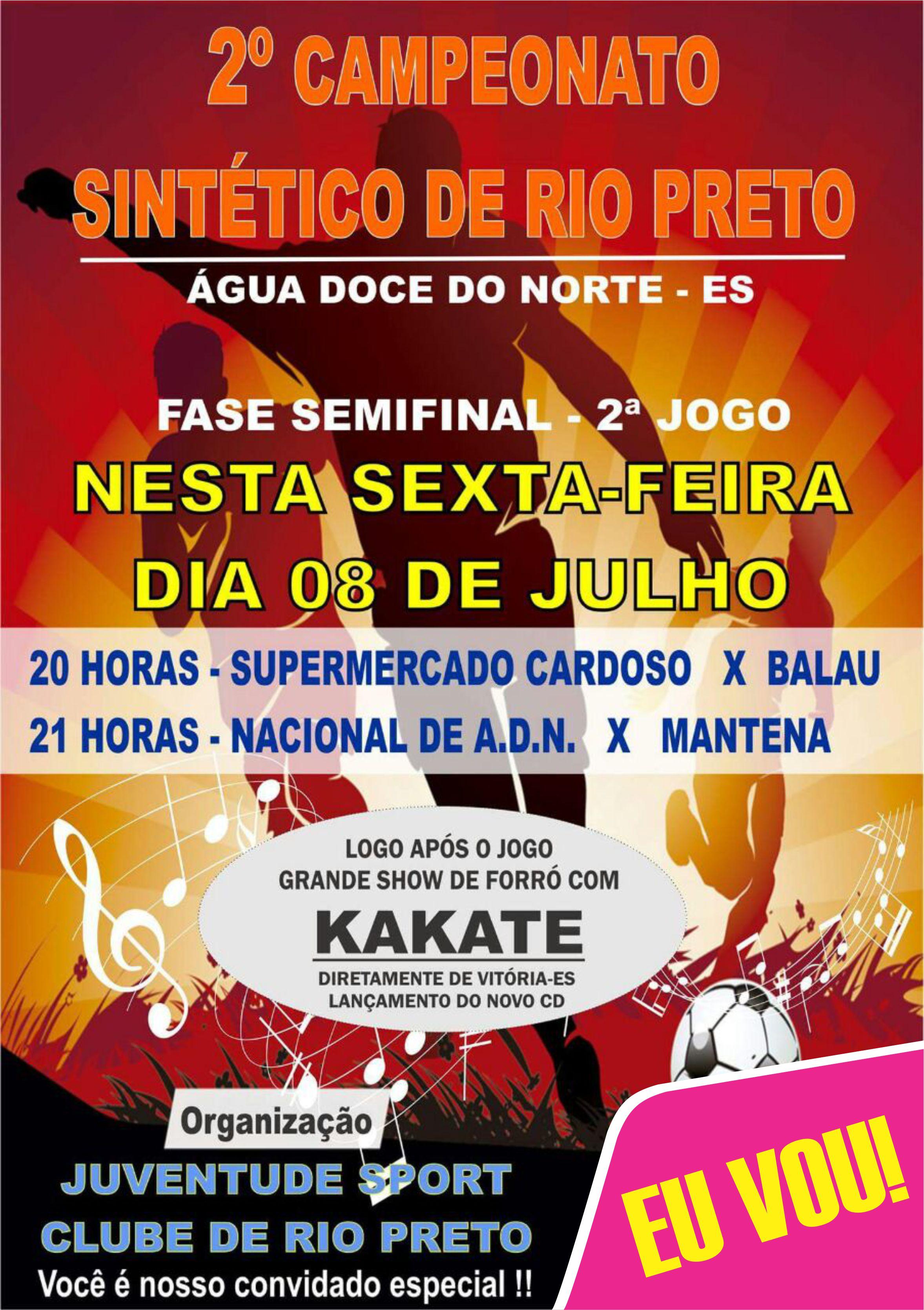 Sexta-feira tem os jogos de volta das Semi-Finais do Campeonato Sintético  do Rio Preto e959e56790d28