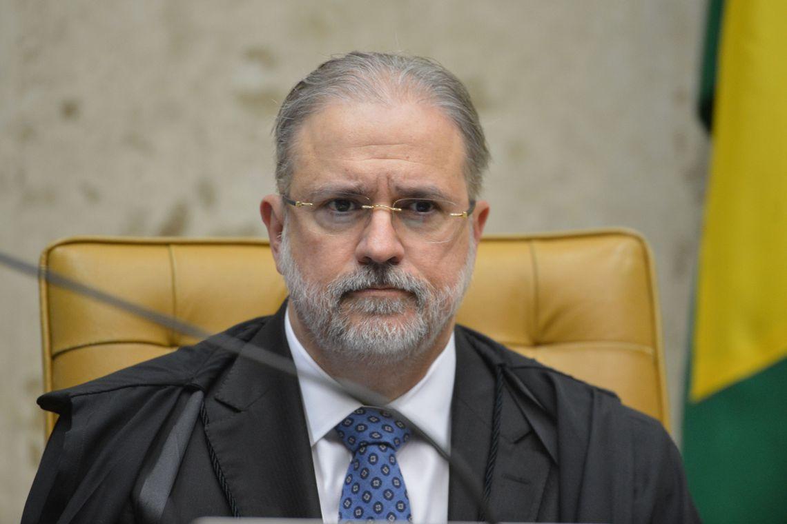Procurador-geral da República, Augusto Aras, durante a segunda parte da sessão dehoje(23) parajulgamento sobre a validade da prisão emsegundainstância do Supremo Tribunal Federal (STF).